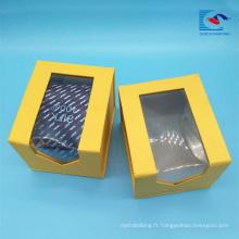 Sencai Custom Clear PVC fenêtre cravate cadeau emballage boîte usine prix