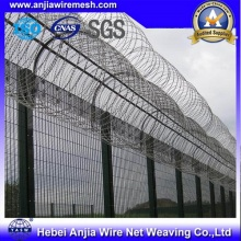 Колючая проволока из ПВХ с покрытием из колючей проволоки для защитного ограждения с SGS