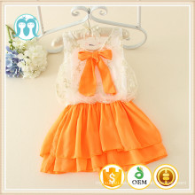Qualitätsversicherungs-Blumenmädchen kleidet mit Bogengroßverkaufs-Sommerkindkind 12-jährigem Baby-Sommerkleid