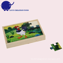 Custom Educational Baby Kids 2D Wooden Toys Puzzle