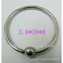 El mejor precio directo de la fábrica La joyería de alta calidad de los anillos de la manera fijó el anillo cautivo del grano