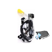 Full face snorkel mask with go pro mount