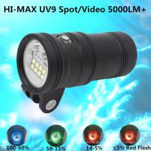5000 Lm Spot / Wide Light für Sporttauchen Wasserdichte Unterwasser-Sport-Kamera