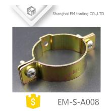 EM-S-A008 Latón Tipo americano Worm Drive Hose Clamp estampado de piezas
