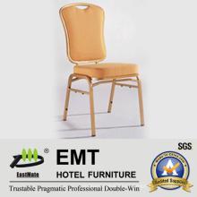 Tejido cómodo con la silla fuerte del banquete del marco del metal (EMT-512)