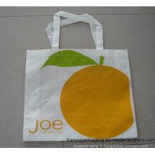 Vente en gros de sac recyclé blanc non recyclé PP pour magasinage
