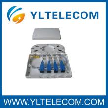 SC SM 9 / 125 coletas lleno con 4 puerto terminal completo montaje de la caja caja de FTTH