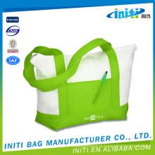 Várias cores do preço de fábrica imprimiram sacolas impressas costume da lona da cor completa