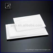 Plaque en céramique, vaisselle, ligne populaire, Rectangle, plaque