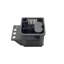 Custom aluminum powder coating die cast radiator enclosure OEM heat sink fan spare parts