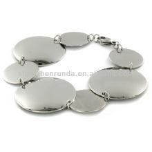 Bijoux Fashion Stainless Steel Polished Multi Size Circle Bracelet Vners