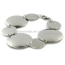 Jewelry Fashion Stainless Steel Polished Multi Size Circle Bracelet Vners