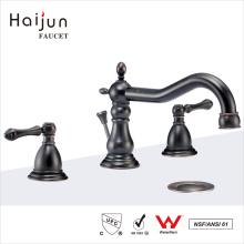 Haijun Factory Barato de luxo 0.1 ~ 1.6MPa 3 furos Deck Mounted Brass Faucet de corpo