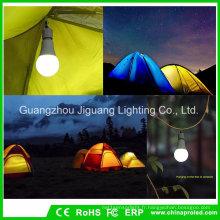 Lampe de camping extérieure de l'ampoule 9W de secours avec la lumière portative de nuit de tente portative de lanterne de LED