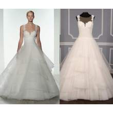 Floral Hand Beaded Bodice & Tulle Wedding Gown