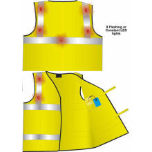 Safeways Waistcoat с 6 мигающими светодиодами