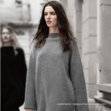 Ladies' cashmere sweater 100% cashmere knitting women graceful pullover solid color choker