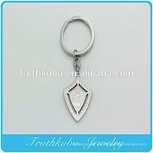 Hueco de acero inoxidable cara de plata de Jesús Medalla llavero colgante