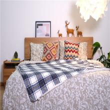 Ensemble de draps double brossé Couverture de lit en microfibre