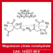 EP7.0 / USP35 Magnesiumcitrat-Nonahydratpulver 153531-96-5 Magnesiumcitrat mit 9 Wasser