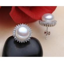 Boucles d'oreilles en perles d'eau douce AAA 8-9mm Boucles d'oreilles à la mode Design