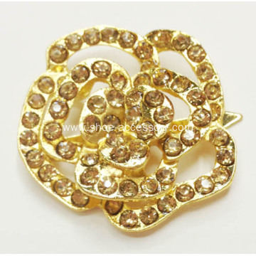 Rose Flower Rhinestone Shoe Clips, Gem Glass Stone Shoe Accessories for Fancy High Heel in 2013