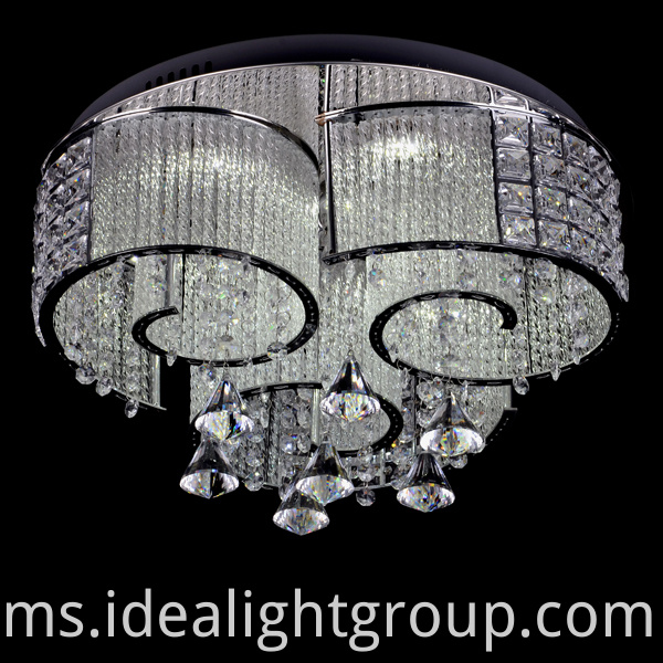 China Chandelier Mewah Chrome Membawa Lampu Lampu Hiasan Rumah Manufacturers