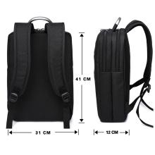 Multifunktionale Wasserdichte Laptop Computer Schwarz Schule Arbeit Reise Rucksack Männer Business-Tasche
