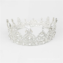 European Noble Jewelry Princess Bridal Round full round pageant crowns Rhinestone Wedding Crown