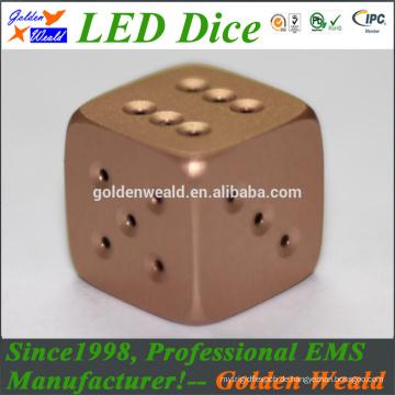 19MM MCU steuern bunte LED-Aluminiumlegierungswürfel CNC an
