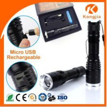 Hot Sale Factory Price Clássicos Tocha Alta Brilhante Alunminum T6 LED Flashlight Classics