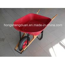Steel Tray Wooden Handle Wheelbarrow