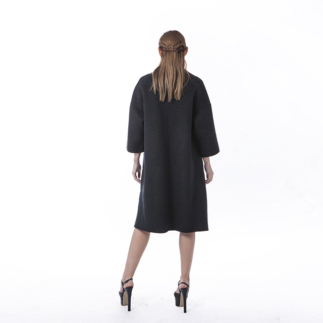 Fashionable Black Cashmere winter dress