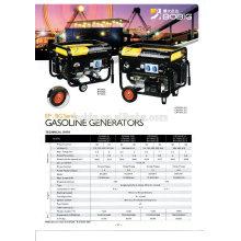 Generador de gasolina refrigerado por aire caliente de la venta fijado 5.5kw 6.5kw