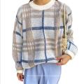 Осенний и зимний свитер с круглым вырезом и длинными рукавами