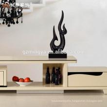 Christmas home decor custom black resin large statues for wholesale