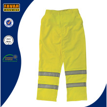 Hombres Fluro color elástico cintura pantalones de trabajo