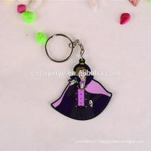Porte-clés du personnage de dessin animé des caoutchouc vente chaude