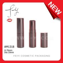 Lápiz de labios redondos de aluminio pequeño Embalaje de cosméticos baratos