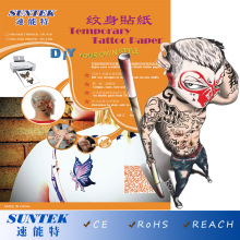 Temporary Tattoo Transfer Printing Paper for Water Decals Papel