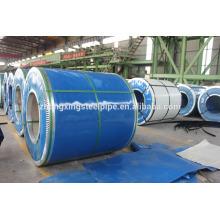 varios colores y tipos de zinc galvanizado colorean revestido acero bobina / bobina de acero material de la hoja del material para techos