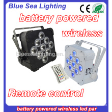 rgbwa uv wireless led multi color rechargeable battery party light