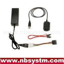 USB a SATA / IDE convertidor de cable (USB a IDE, USB a SATA, USB2.0 a disco duro serial CD-ROM