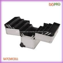 Восемь лотков большой размер алюминиевого ногтя случай вагонетки (SATCMC011)