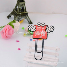 clip de metal color 2 anillas marcador