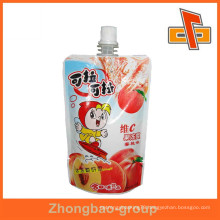 Guangzhou factory customized plastic bag with spout