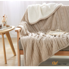 Knitted Fabric Pure Cotton Household Items Blanket