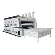 Semi-auto corrugated carton boxes making machine with chain feeder type printing slotting machine