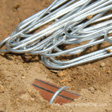 drip irrigation tube hold down wire stakes
