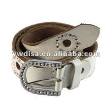 Cinturão de couro novo do Rhinestones do estilo para a mulher